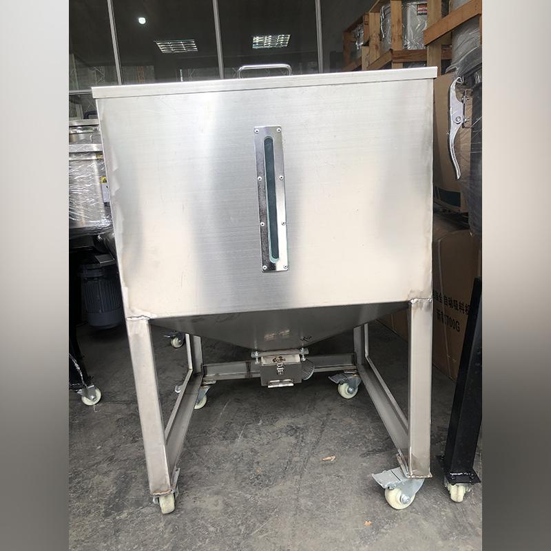 100公斤不锈钢移动料桶